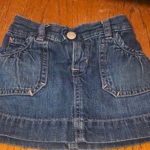 Baby Gap denim skirt.